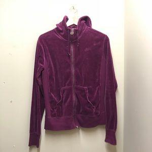 Nike velour zip up track jacket